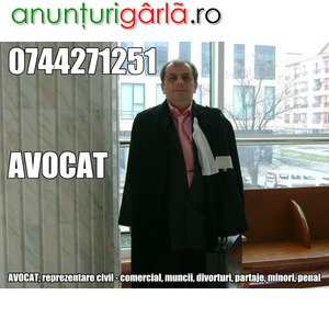 Imagine anunţ AVOCAT, 0744271251