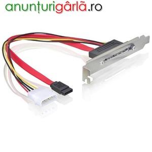 Imagine anunţ Placa cu conectori ( Slot bracket) interni SATA - SATA 22 pin - 65047
