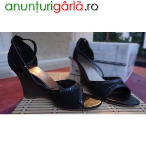 Imagine anunţ Sandale platforma negre
