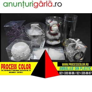 Imagine anunţ Obiecte Ambalate In Plastic Process Color