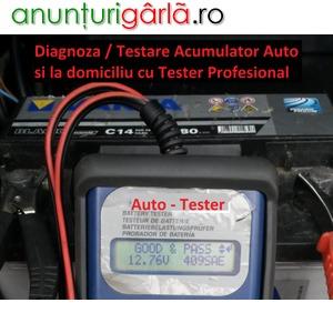 Imagine anunţ Diagnoza / Testare / Verificare si Inlocuire Baterie / Acumulator Auto cu Tester Profesional la Domiciliu Bucuresti / Ilfov