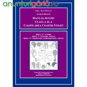 Imagine anunţ Manual clasa XI liceu: tunderea, coafarea, vopsirea părului