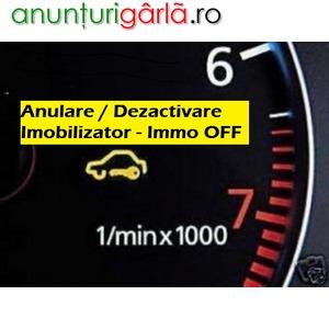 Imagine anunţ Nu citeste / recunoaste cheia? Anulare / Eliminare Imobilizator Antidemaraj Auto - Immo Off la Domiciliu