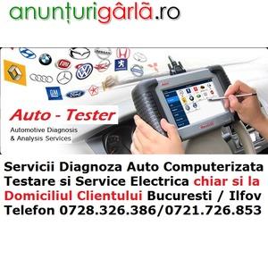 Imagine anunţ Servicii Electrician Diagnoza Testare Auto cu Tester de uzina si Reparatii la Domiciliu
