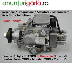 Imagine anunţ Diagnoza Auto Test Pompa Injectie FORD - Programare Initializare Adaptare Sincronizare la Domiciliu - Bucuresti / Ilfov