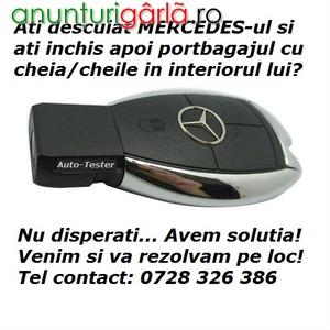 Imagine anunţ Mercedes - Descuiere pe Loc Portbagaj Incuiat - Recuperare Chei / Cheie Incuiata inauntru - Bucuresti / Ilfov
