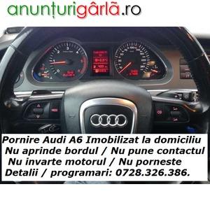 Imagine anunţ Pornire Audi A6 Imobilizat la Domiciliu - nu pune contactul / nu aprinde bordul / nu invarte / nu porneste