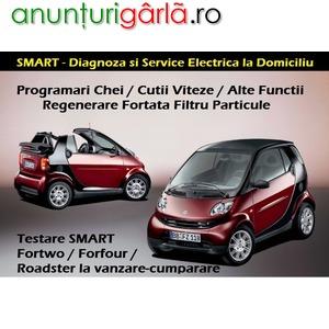 Imagine anunţ Reparatii Auto SMART - Diagnoza / Programare / Initializare Cheie cu Telecomanda SMART Fortwo / Forfour / Roadster si la Domiciliu