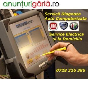 Imagine anunţ Servicii Diagnoza FIAT / Alfa / Lancia - Testare cu Tester Dedicat + Reparatii Rapide Electrica Auto si la Domiciliu Bucuresti / Ilfov