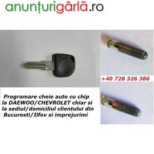 Imagine anunţ Servicii Diagnoza Testare Programare cheie / chei cu chip Daewoo / Chevrolet Matiz Kalos Spark si la Domiciliu Bucuresti / Ilfov