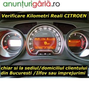 Imagine anunţ Verificare Kilometri Reali CITROEN cu Tester de Uzina si la Domiciliu Bucuresti / Ilfov