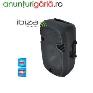 Imagine anunţ Boxa audio activa Ibiza sound XTK15A, 2 cai, 15 inch, 600W