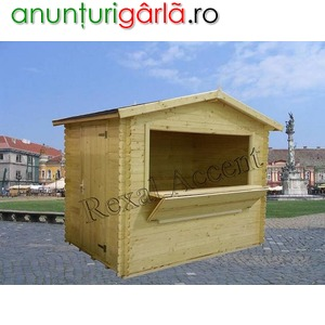 Imagine anunţ Casute de lemn pentru comert stradal, piete, targuri, expozitii, patinoare
