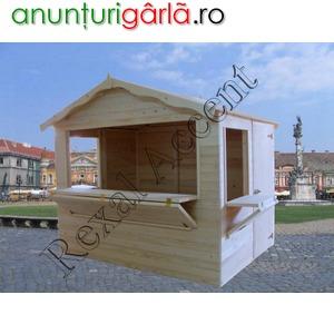 Imagine anunţ Casute de lemn pentru targuri, Chioscuri comerciale din lemn, Tonete din lemn, Standuri comerciale
