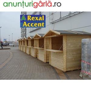 Imagine anunţ Casute din lemn, Chioscuri de lemn pentru targuri, pieţe