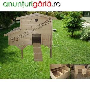 Imagine anunţ Custi lemn, Cotete de lemn pentru pasari