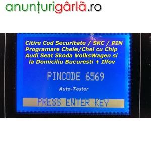Imagine anunţ Citire PIN SKC cod securitate + Programare cheie / chei cu chip Audi Skoda Seat Volkswagen si la Domiciliu Bucuresti / Ilfov