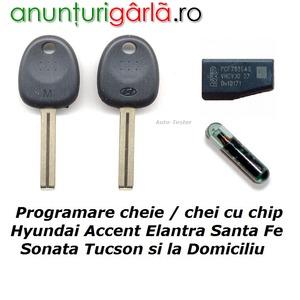 Imagine anunţ Diagnoza Auto Testare Programare cheie chei cu chip Hyundai la Domiciliu