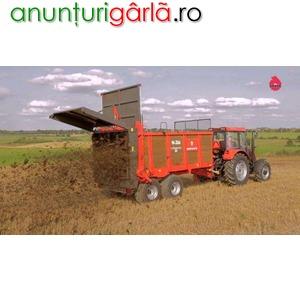 Imagine anunţ MIG, remorca de imprastiat gunoi, 8 tone, 14 tone