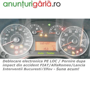 Imagine anunţ Alfa Romeo FIAT Lancia - Fuel Cut Off dupa impact / accident - nu porneste