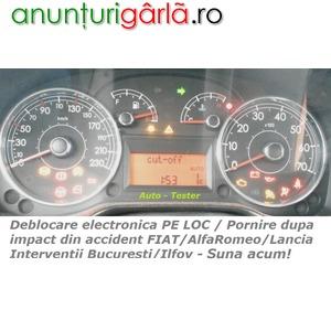 Imagine anunţ Alfa Romeo FIAT Lancia - Fuel Cut Off dupa impact / accident - nu porneste