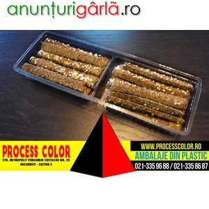 Imagine anunţ Caserole din plastic doua compartimente pentru sticksuri Process Color
