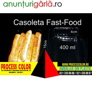 Imagine anunţ Caserole din plastic fast-food Process Color