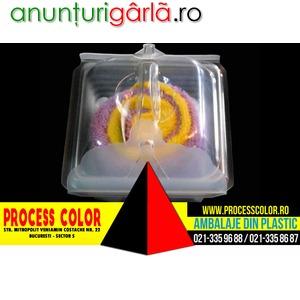 Imagine anunţ Caserole din plastic pentru prajituri Process Color