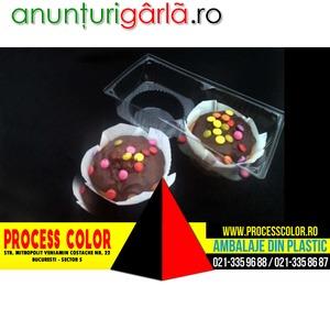 Imagine anunţ Caserole plastic compartimentate pentru doua briose Process Color