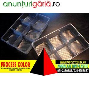 Imagine anunţ Chese plastic cu sase alveole pentru fursecuri Process Color