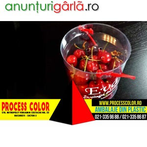Imagine anunţ Ambalaje capsuni, fructe Process Color