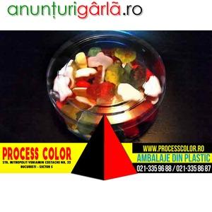 Imagine anunţ Ambalaje din plastic figurine jeleuri Process Color