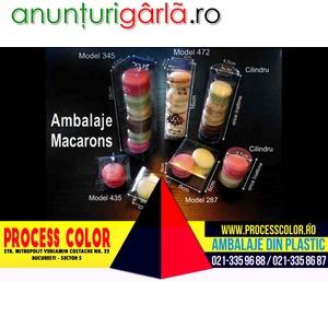 Imagine anunţ Ambalaje pentru Macarons Process Color