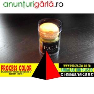 Imagine anunţ Ambalaje plastic 3 Macarons, Minimacarons Process Color
