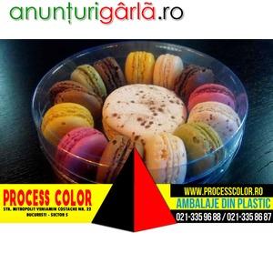 Imagine anunţ Ambalaje plastic Macarons, Megamacarons Process Color