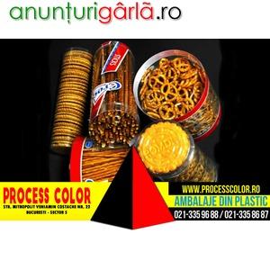 Imagine anunţ Ambalaje plastic covrigei Process Color