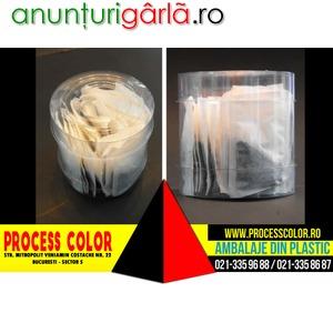 Imagine anunţ Ambalaje plastic plicuri ceai Process Color