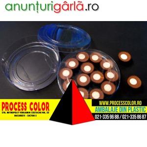 Imagine anunţ Ambalaje plastic praline ciocolata Process Color