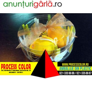 Imagine anunţ Ambalaje rotunde oua incondeiate Process Color