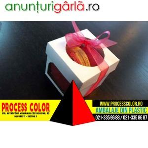 Imagine anunţ Cutii carton alb pentru Megamacarons Process Color