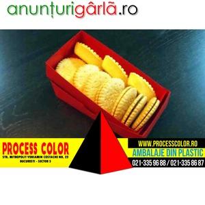 Imagine anunţ Cutii carton colorat biscuiti Process Color