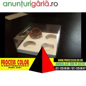 Imagine anunţ Cutii carton cu capac 4 muffins Process Color