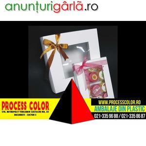 Imagine anunţ Cutii carton fereastra petits fours Process Color