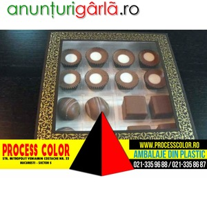 Imagine anunţ Cutii din carton cu fereastra 16 praline Process Color