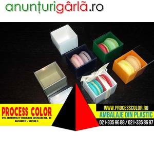 Imagine anunţ Cutii mici carton 2 Macarons marturii nunta Process Color