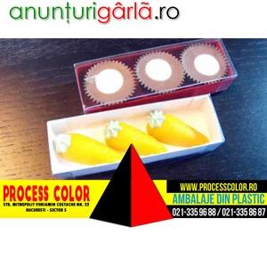 Imagine anunţ Cutiute din carton pentru figurine morcovi din martipan Process Color
