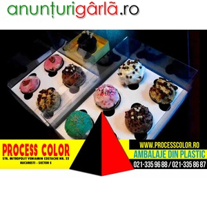 Imagine anunţ Cutii carton cupcakes Process Color