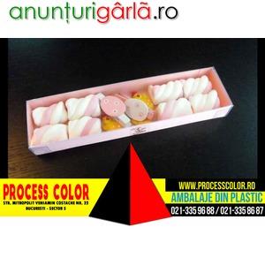 Imagine anunţ Cutii carton figurine Marshmallow personalizate Paste Process Color