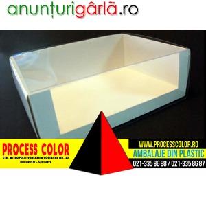 Imagine anunţ Cutii carton prajituri, miniprajituri Process Color