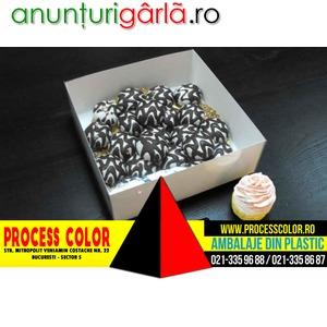 Imagine anunţ Cutii cu capac pentru miniprajituri Process Color